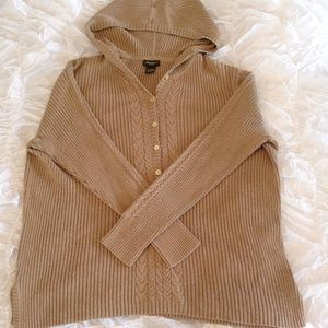 Beige Cable Knit Pullover